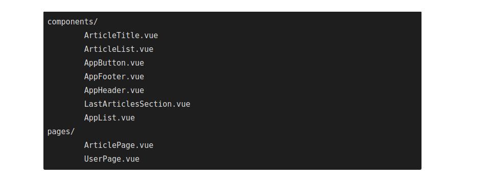 structure of Vue.js