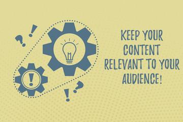 Publish Relevant Content